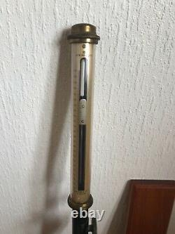 Antique Stick Gimballed Ships Marine Barometer Negretti & Zambra F Darton & Co