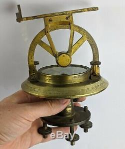 Antique Theodolite By Thomas Harris & Son London c19th Superb Quality Brass