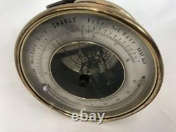 Antique Thermometer & Barometer, PHBN France, 5 Aneroid, Holosteric, Barrel