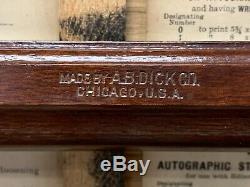 Antique Thomas A. Edison's No. 4 Mimeograph A. B. Dick Company