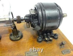 Antique Very Rare Boulitte Paris French Electric Motor Centrifugal Speed Control