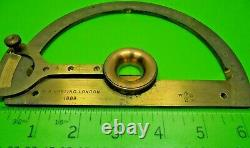 Antique Victorian Brass 1880 W^d Army Harling Long Arm Protractor Instrument