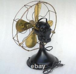 Antique Vintage 1930 Gec Brass Blades Table Fan General Electric England