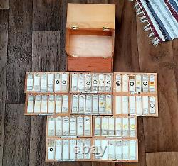 Antique/ Vintage Collection Of Scientific Microscope Slides- 1920 To 1990