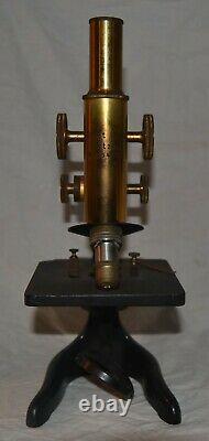 Antique Vintage Ernst Leitz Wetzlar Brass Microscope