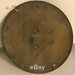 Antique/Vintage Heavy Brass 17 cm Diameter Sundial, Dated 1767