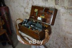 Antique Vintage Hilger and Watts Theodolite surveyors instrument 84177 wooden