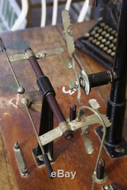 Antique Vintage Science Lab instrument by the central scientific co. Pulley wood