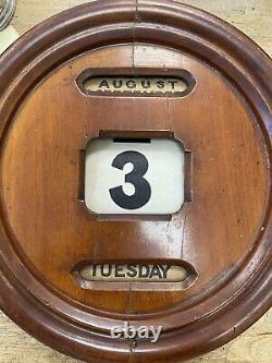 Antique Vintage Victorian Mahogany Perpetual Wall Desk Office Calendar Gwo