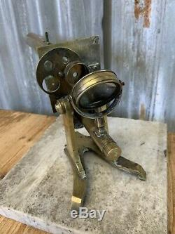 Antique Vintage Victorian Solid Brass Microscope Monocular Removable Large 45cm