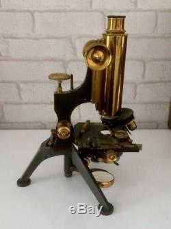 Antique W. Watson & Son Microscope 6282. Fantastic Cased & With Lenses etc
