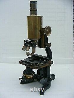 Antique W. Watson & Sons Brass Microscope Bactil