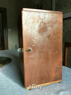 Antique W. Watson & Sons Edinburgh Student's Stand-H Microscope c1912, cased