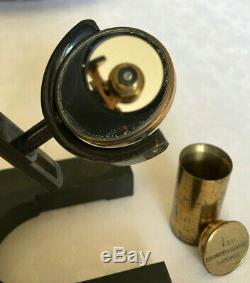 Antique Watson & Sons Edinburgh Model C Microscope in Brass circa 1900