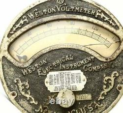 Antique Weston Voltmeter Late 19th Century Scarce 0-150 V