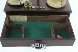 Antique William Williams Large Apothecary Balance Beam Scales with Weight 5810