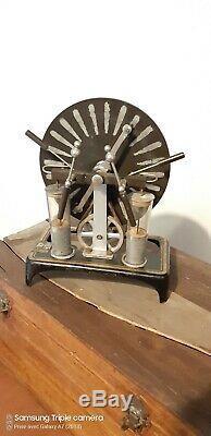 Antique Wimshurst Electrostatique Rare Leyden Jar Ruhmkorff Coil Toy Old Collect