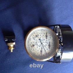 Antique brass anemometer / air speed meter by Casella of London. Mining / aero