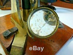 Antique case binocular microscope made by J SWIFT LONDON