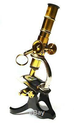Antique compound microscope
