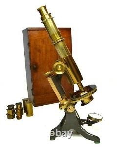 Antique compound microscope by Charles Baker of London