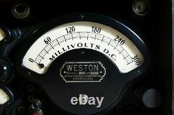 Antique electrical'multimeter' testing equipment, Weston Electrical Corporation