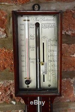 Antique mahogany stick barometer Jos Pastoreli Chester
