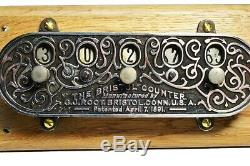 Antique mechanical counter, the Bristol Counter, C J Root. American. 1890s