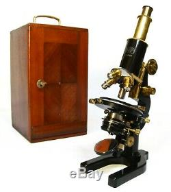 Antique microscope, Carl Zeiss of Jena, 1920s, with fitted case, superb