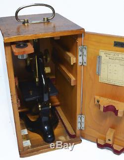 Antique microscope, Ernst Leitz of Wetzlar, circa 1920