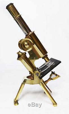 Antique microscope, James Swift & Son of London, circa 1900