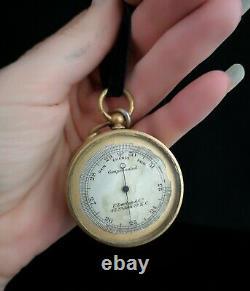 Antique pocket barometer, Darton and Co