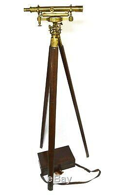 Antique theodolite SURVEYORS LEVEL, Street of London CASE and TRIPOD included