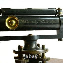 Antique theodolite surveyors level, Winter & Sons of Newcastle, great history