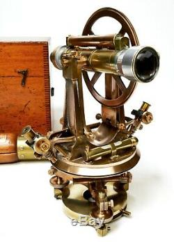 Antique transit theodolite, William Stanley of London, immense proportions