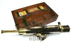 Antique vintage surveyors level, 1920s CASE and period TRIPOD stand included