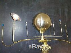 Antiqued orrery planetarium solar system by SC artist, Will S. Anderson