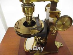 BAKER WENHAM BINOCULAR MICROSCOPE ca 1860
