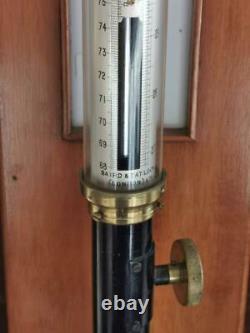 Baird & Tatlock Ships Barometer London Ltd Antique Marine Stick Fortine Cased