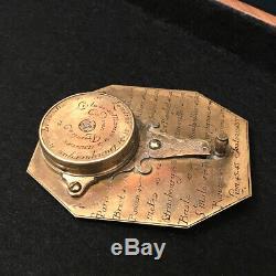 Baradelle Paris Pocket Brass Sundial ca. 1780