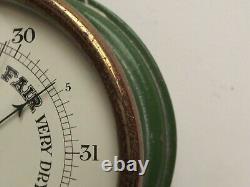 Barometer Marine Aneroid Barometer Working Bulkhead Barometer C1920