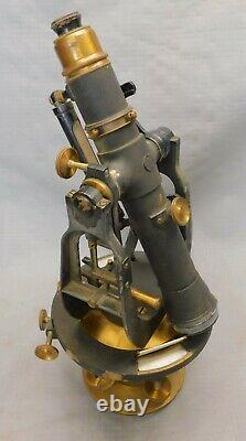 Bausch & Lomb Surveyor Transit in Box Pre WWI ANTIQUE Surveying Instrument