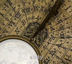 C. 1715 Antique French Nicolas Bion Compass Direction Sundial