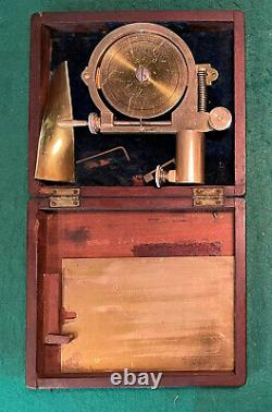 C 1855 Lacquered Brass Water Current Meter ELLIOTT BROTHERS 56 Strand London