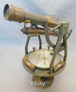 C. 1919 W. & L. E. Gurley Engineers Transit Nice Antique Surveying Instrument