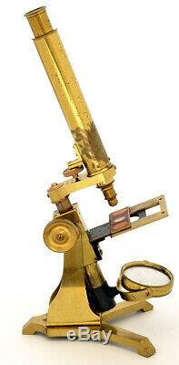C. 19th Early Andrew Ross brass microscope (1848)