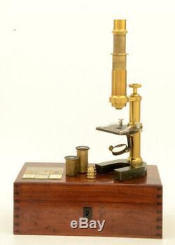 C. 19th Hartnack brass microscope (1865)