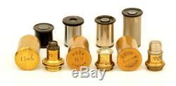 C. 19th Ross brass microscope (c. 1890)