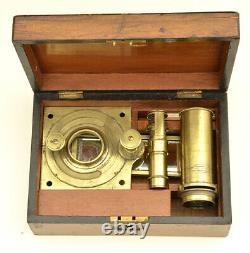 C. 19th large solar Lincoln brass microscope (1775)