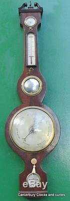 C. Alano Canterbury Antique Georgian Mahogany Banjo Barometer
